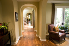 Mansion hallway Stock Photo