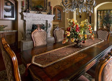 Mansion home dining room table stock image