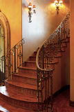 Mansion home interior front stairway entrance Royalty Free Stock Photos