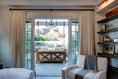 Mansion Home Patio Bedroom Suite Royalty Free Stock Photo