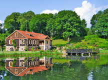 Mansion by the Lake Stock Images
