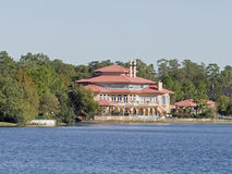 Mansion on a lake Stock Photo
