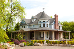 Mansion with Manicured Yard Stock Photo