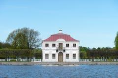 Mansion near Lake (Marly Palace) Royalty Free Stock Photography