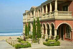 Mansion oceanfront Stock Image