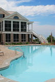 Mansion and pool stock photography