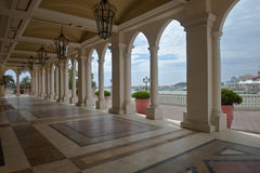 Mansion porch Royalty Free Stock Images