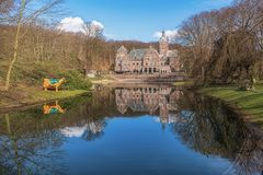 The mansion on the seventeenth century Duin & Berg estate in San. Tpoort, The Netherlands stock photo