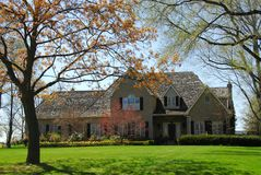 Mansion in spring Royalty Free Stock Image