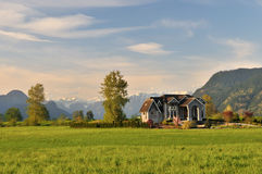 Mansion in the spring countryside Stock Image