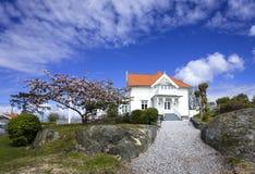 Mansion at Styrso, Bohuslan Coast, Sweden. Mansion at Styrso of Bohuslan Coast, Sweden royalty free stock image
