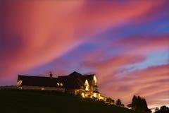 Mansion at Sunset Royalty Free Stock Image