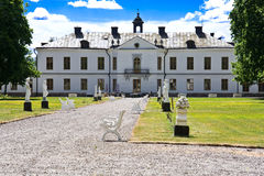 Mansion in Sweden. Luxurious estate in sweden in a town called gimo a sunny day Royalty Free Stock Photos