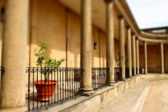 Mansion terrace tilt and shift A Royalty Free Stock Photography