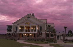Mansion at twilight royalty free stock images