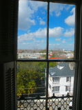 Mansion Window View of Charleston Royalty Free Stock Images