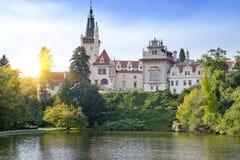 Mansion XII- XVI century in Pruhonice near Prague, Czech Republic.  Royalty Free Stock Photos