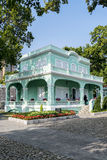 Mansiones coloniales portuguesas en el área del taipa de China de Macao Macao Fotografía de archivo libre de regalías