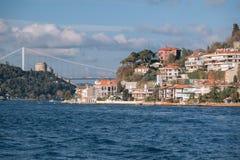 Mansiones de la costa costa en Bosphorus, Estambul, Turquía Fotografía de archivo libre de regalías