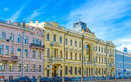 The mansions along Griboedov Canal Stock Images