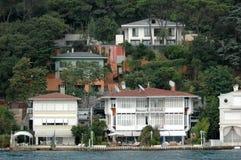 Mansions and Bosporus Royalty Free Stock Photos