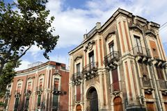 Mansions in Catania - Royalty Free Stock Images
