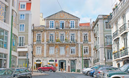 The mansions in Chiado of Lisbon Stock Image