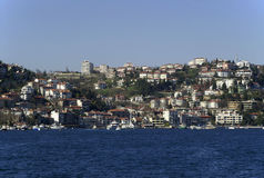 Mansions on the coast. Of the Bosporus, Turkey Stock Image