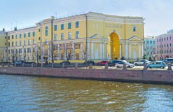 The mansions at Griboedov Canal in St Petersburg Stock Photography