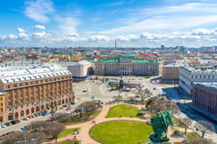The mansions and palaces of St Petersburg. St Isaac's Square is one of the most beautiful city locations with perfect architectural ensemble, including mansions Stock Images