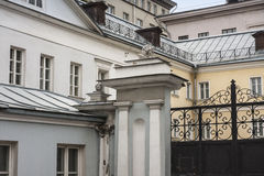 MOSCOW, RUSSIA – Mansions in Tolmacheskiy Lane Stock Photo