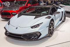 2015 Mansory Lamborghini Huracan. Geneva, Switzerland - March 4, 2015: 2015 Mansory Lamborghini Huracan presented on the 85th International Geneva Motor Show Royalty Free Stock Photo