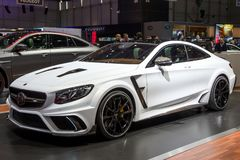 Mansory Mercedes-Benz S63 AMG Coupe DIAMOND EDITION. GENEVA, SWITZERLAND - MARCH 1, 2016: Mansory Mercedes-Benz S63 AMG Coupe Diamond Edition car showcased at Royalty Free Stock Photos