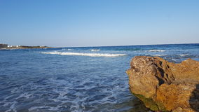 Mansoura Beach - Kelibia - Túnez Imagen de archivo libre de regalías
