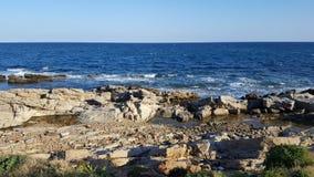 Mansoura Beach - Kelibia - Tunesië Stock Afbeelding