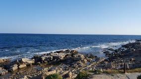 Mansoura Beach - Kelibia - Tunisien Royaltyfri Fotografi