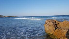 Mansoura Beach - Kelibia - Tunisien Royaltyfri Bild
