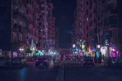 Mansoura miasto & x28; Gala& x27; st & x29; Zdjęcie Stock