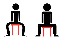 Manspreading et mansitting illustration de vecteur