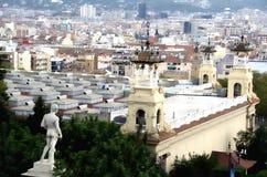 Manstatyn i Montjuic parkerar i Barcelona Royaltyfria Foton