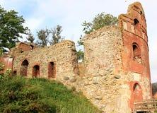 Manstorpsgavlar废墟在瑞典 库存照片
