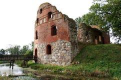 Manstorpsgavlar废墟在Ostra Grevie,瑞典附近的 图库摄影