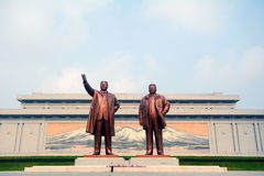 Mansudae Monument, Pyongyang, North-Korea royalty free stock images