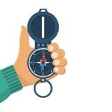 Mantém um compasso disponivel ilustração stock