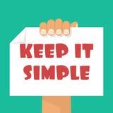 Manténgalo simple libre illustration