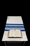 Mantón de rezo judío, Tallit   Imagenes de archivo