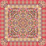 Mantón geométrico único abstracto, bufanda, modelo del pañuelo para el cuello Fotos de archivo