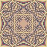 Mantón geométrico colorido, modelo de la bufanda Foto de archivo