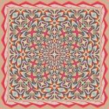 Mantón geométrico colorido, modelo de la bufanda Fotos de archivo