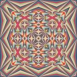 Mantón geométrico colorido, modelo de la bufanda Imágenes de archivo libres de regalías